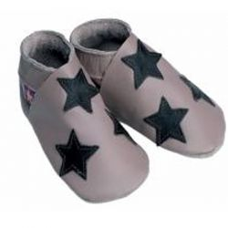 Starchild Taupe Stars Leather Shoes