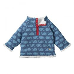 Frugi Whales Snuggle Fleece