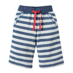 Frugi Samson Grey Stripe Shorts