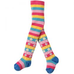 Frugi Little Nora Flower Stripe Tights