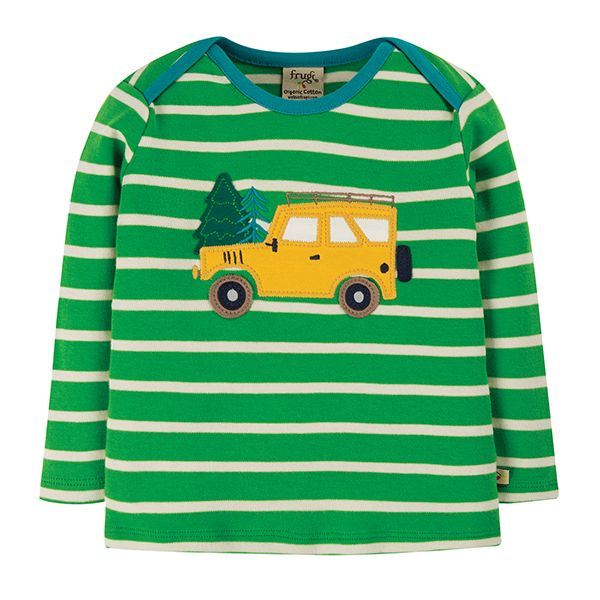 Frugi Bobby Green Truck Top