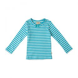 Frugi Little Mia Sea Stripe Top