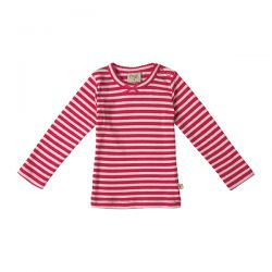 Frugi Little Mia Raspberry Stripe Top