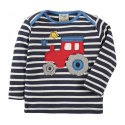 Frugi Bobby Navy Tractor Top