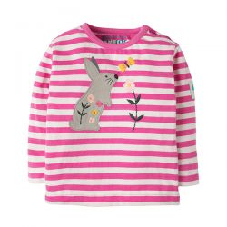 Frugi Button Applique Bunny Top