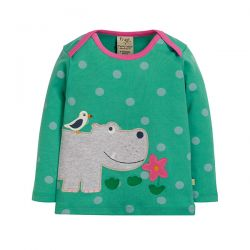 Frugi Bobby Applique Hippo Top