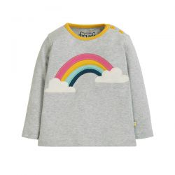Frugi Button Applique Rainbow Top