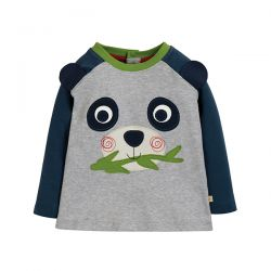 Frugi Happy Raglan Panda Top