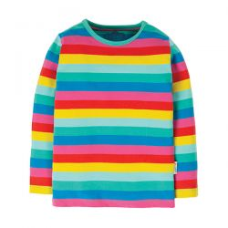 Frugi Everything Flamingo Stripe Top