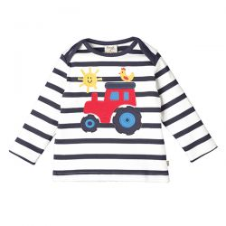 Frugi Bobby Navy Stripe Tractor Top