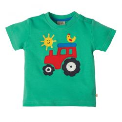 Frugi Little Wheels Tractor Tee