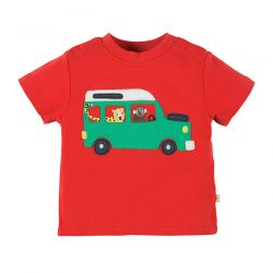 Frugi Little Wheels Tomato Taxi Tee