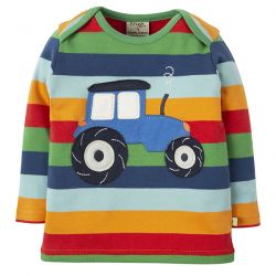 Frugi Bobby Rainbow Tractor Top