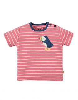 Frugi Wilbur Applique Puffin T-Shirt