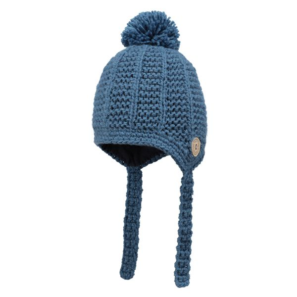 Barts Blue Knit Bobble Hat