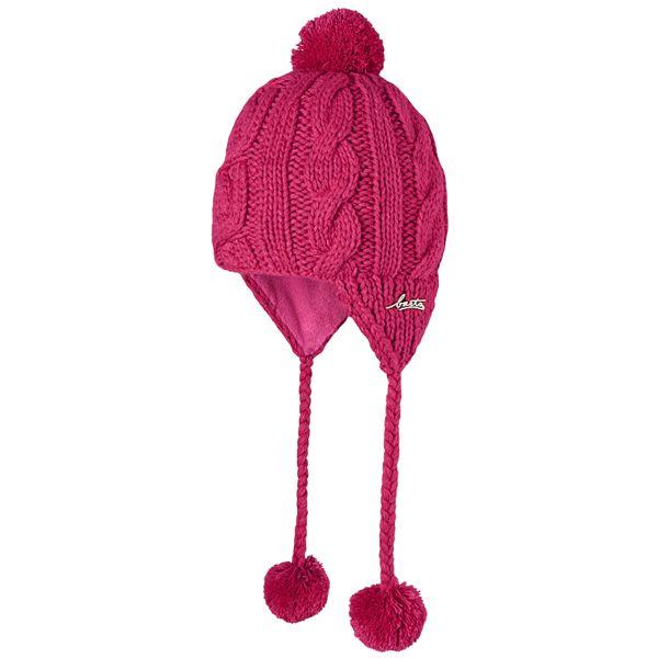 e8d0254bc12 Barts Pink Cable Knit Bobble Hat