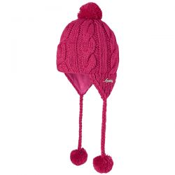 Barts Pink Cable Knit Bobble Hat