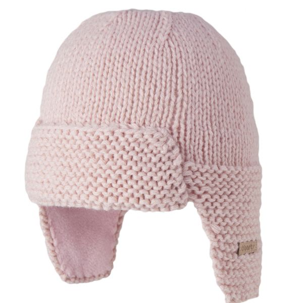 Barts Pink Earflap Lined Hat