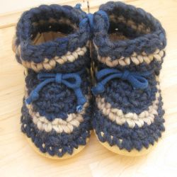 Padraig Cottage Blue Stripe Slippers
