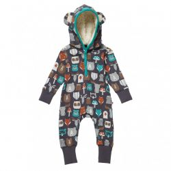 Piccalilly Forest Hooded Romper