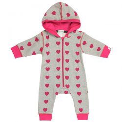 Lilly & Sid Heart Print Outersuit