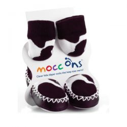 Mocc Ons Cow Print Slippers