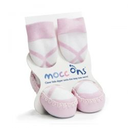 Mocc Ons Pink Ballet Slippers