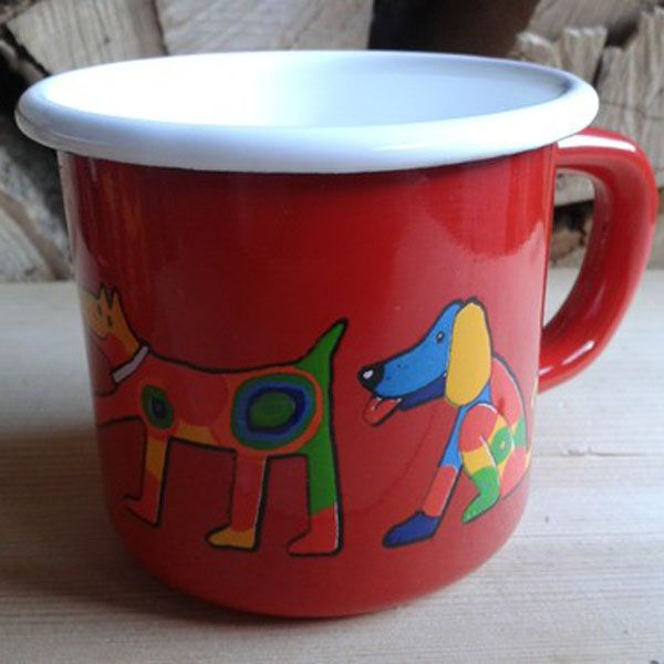Enamel Red Dogs Toddler Cup