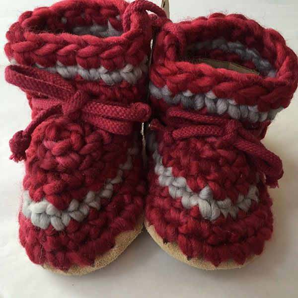 Padraig Cottage Red Stripe Slippers