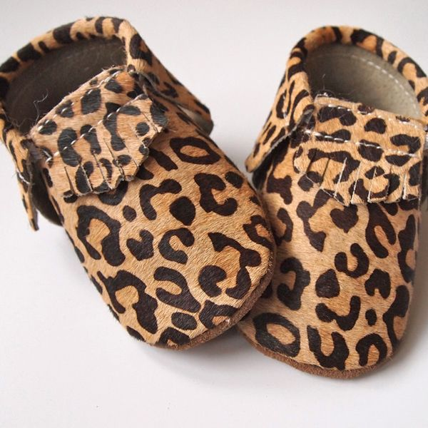 Buffalo & Bear Leopard Leather Moccs