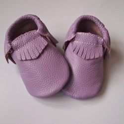Buffalo & Bear Lilac Leather Moccs